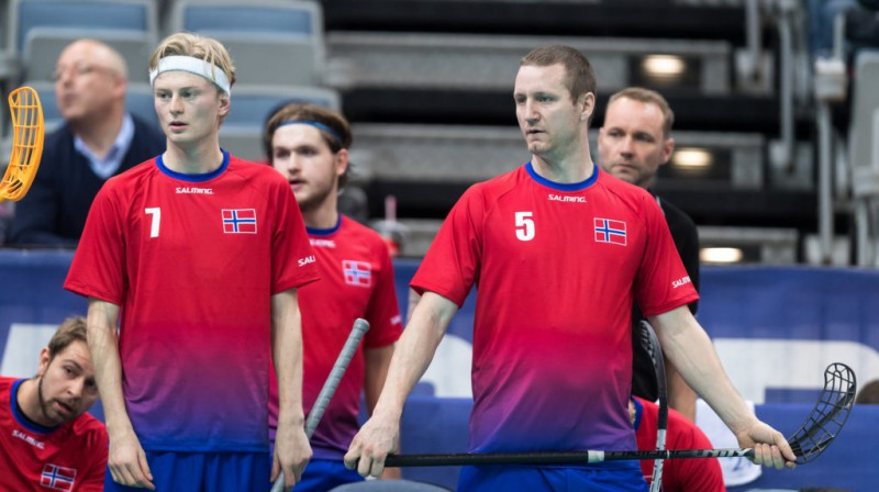 Norvēģijas florbola leģenda Ketils Kronbergs (#5) Foto: IFF Floorball