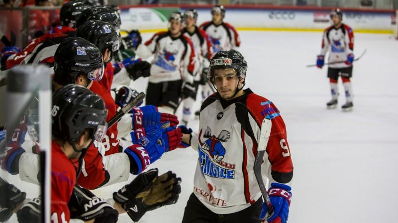 """""""Zemgales/LLU"""" rezultatīvākais spēlētājs Rustams Begovs. Foto: www.lhf.lv"""