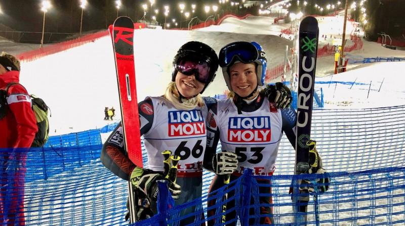 Evelīna un Lelde Gasūnas. Foto: Latvian Alpine
