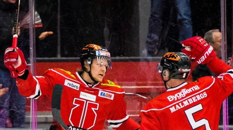 Rodrigo Ābols. Foto: Johan Bernström / Bildbyrån / Örebro Hockey