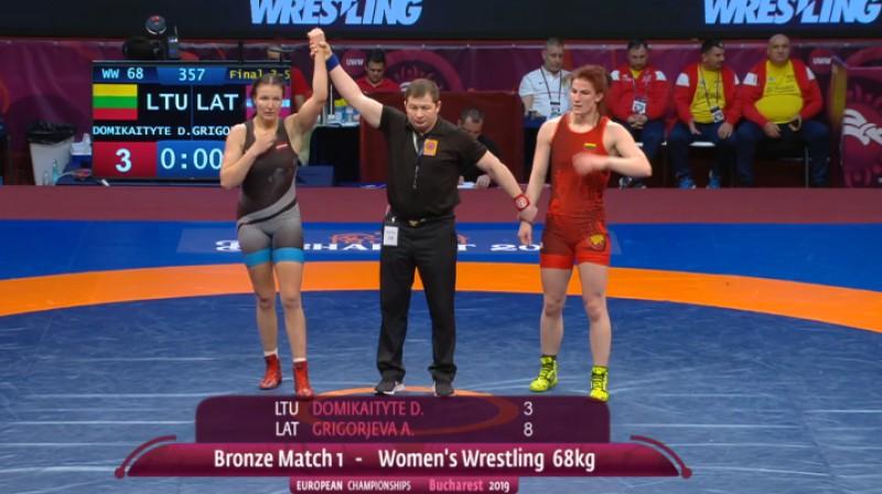 Anastasija Grigorjeva uzvar EČ bronzas mačā. Foto: United World Wrestling