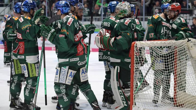 """Augsburgas """"Panther"""" hokejisti. Foto: imago images/Jan Huebner/Scanpix"""