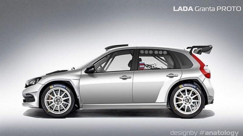 """Šāda izskatīsies jaunā """"Lada Granta Proto"""" rallija mašīna. Foto: MRMotorsport"""