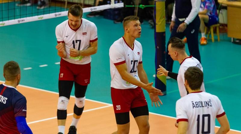 Latvijas un Beļģijas spēles moments SN Daugava. Foto: CEV