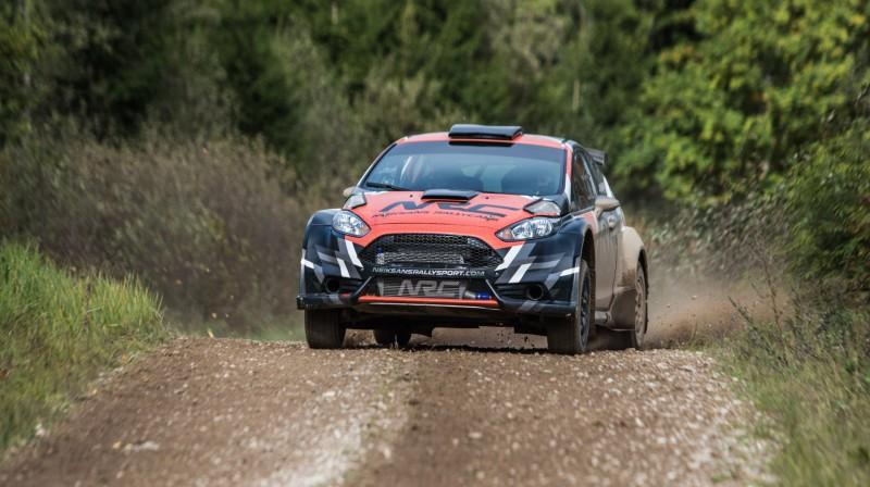 """Ford Fiesta NRC"" sacīkšu automobilis. Foto: Ronalds Sirba"