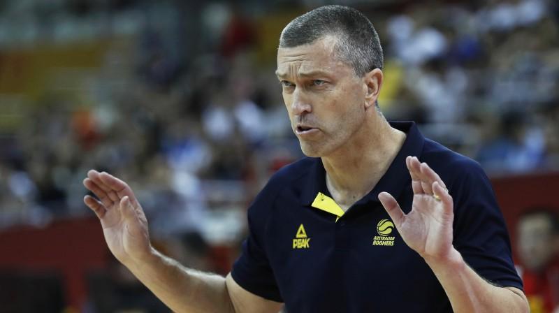 Austrālijas basketbola izlases galvenais treneris Andrejs Lēmanis. Foto: EPA/Scanpix