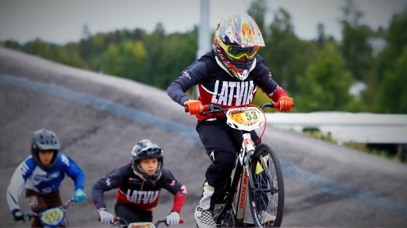 Latvijas sportisti priecē Baltijas jūras kausa BMX noslēdzošajā posmā Foto: Sanda Tūtere
