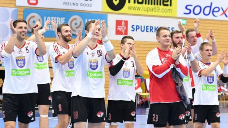 """Dobeles """"Tenax"""" spēlētāji. Foto: handball.lv"""