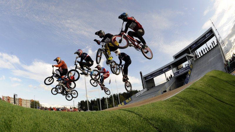 Eiropas čempionāts BMX vienās sacensībās pirmo reizi notika Valmierā