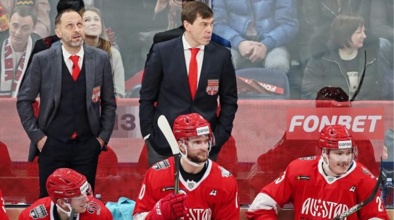 Lauris Dārziņš starp Bobrova divīzijas zvaigznēm. Foto: Sergei Savostyanov/TASS/Scanpix