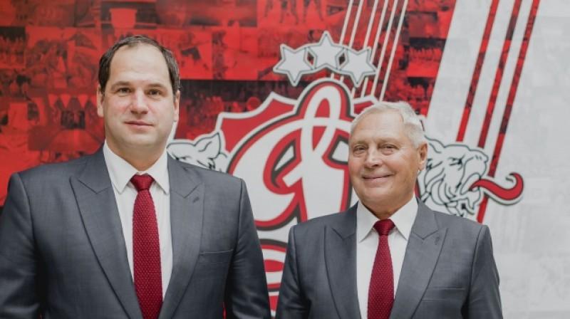 Ģirts Ankipāns un Juris Savickis. Foto: dinamoriga.lv