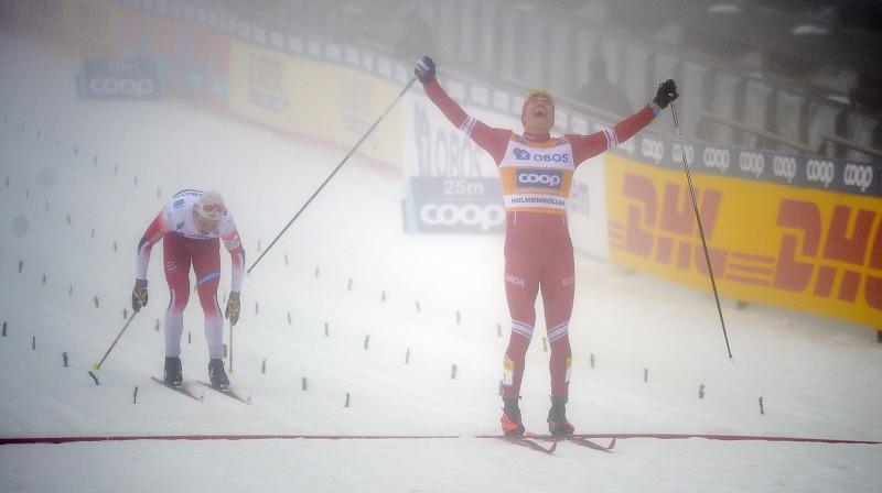 Aleksandrs Boļšunovs izcīna uzvaru. Foto: EPA/Scanpix.