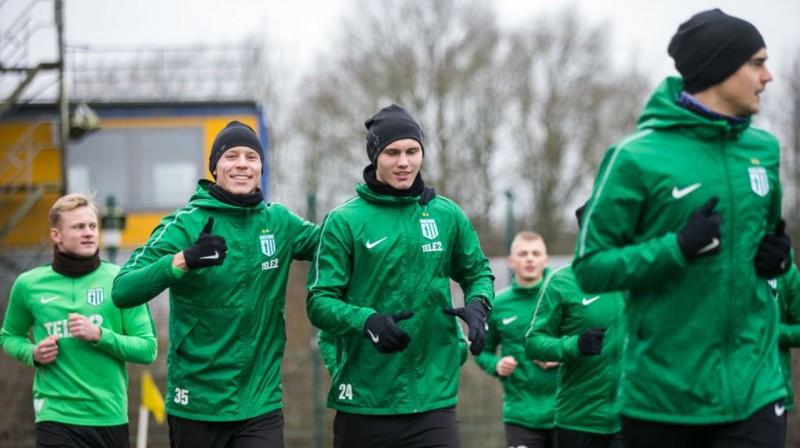 "Tallinas ""Flora"" futbolisti treniņā. Foto: fcflora.ee"