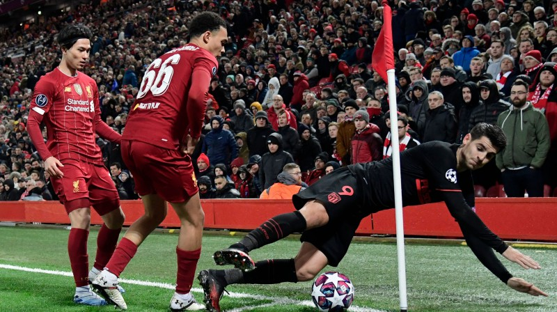 "Moments no ""Liverpool"" un Madrides ""Atletico"" cīņas. Foto: Javier Soriano/AFP/Scanpix"