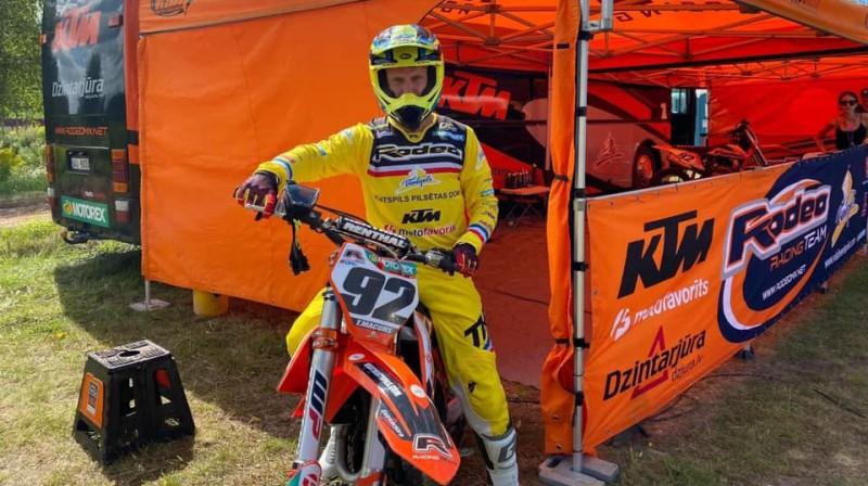 Toms Macuks. Foto: MXGP of Latvia