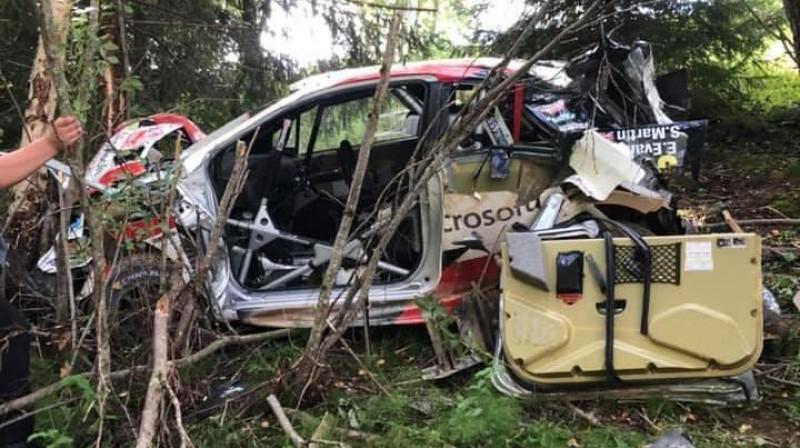 Evansa auto pēc avārijas