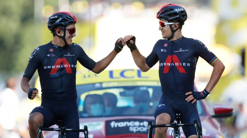 Ričards Karapass un Mihals Kvjatkovskis. Foto: Reuters/Scanpix