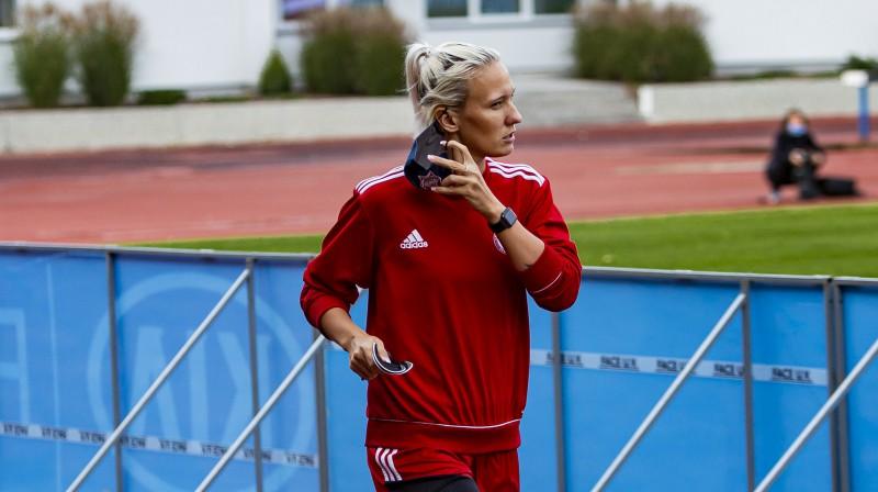 Latvijas izlases kapteine Anastasija Ročāne. Foto: LFF