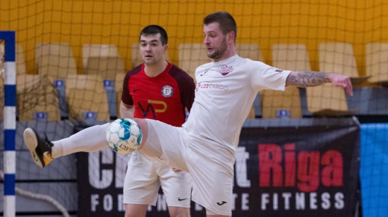 """Daugavpils """"Lokomotiv"""" spēlētājs Aigars Liņģis. Foto: A. Pupurāns/FC Petrow"""
