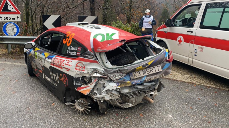 Seska auto pēc avārijas
