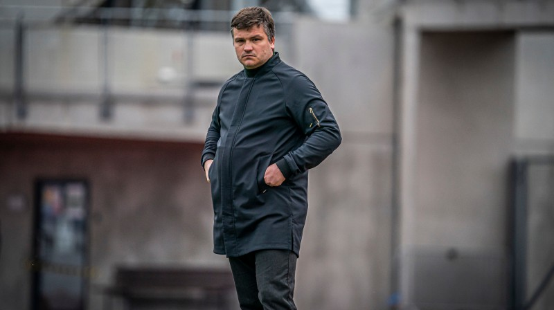 "Andris Riherts ""Daugavas"" stadionā / Foto: Nora Krevņeva-Baibakova"