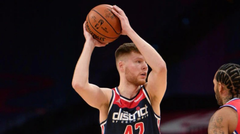 Dāvis Bertāns. Foto: Wizards/NBA