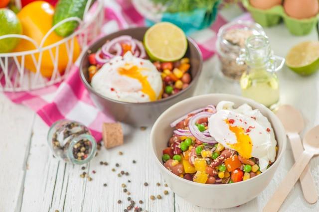 Pākšaugu salāti ar olu - īsts enerģijas lādiņš