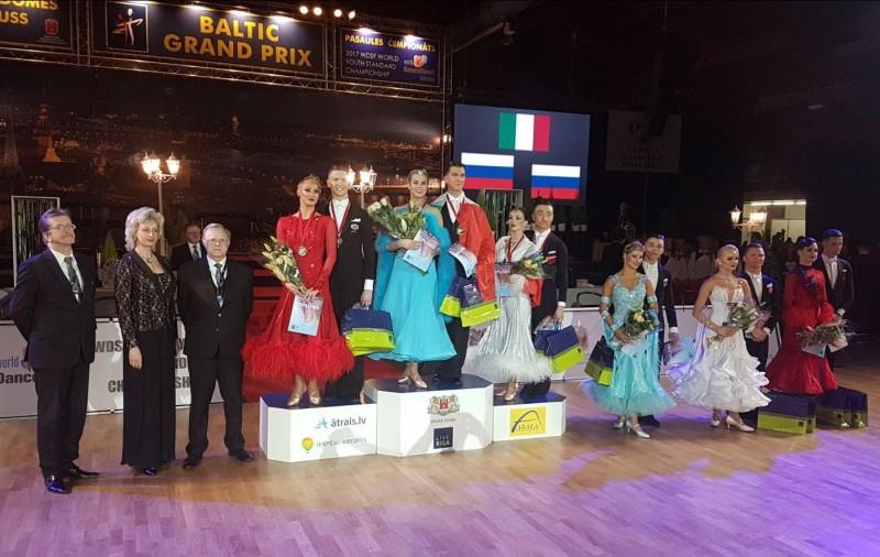 Latvijas sporta deju pāris piektie pasaules čempionātā jauniešiem Rīgā