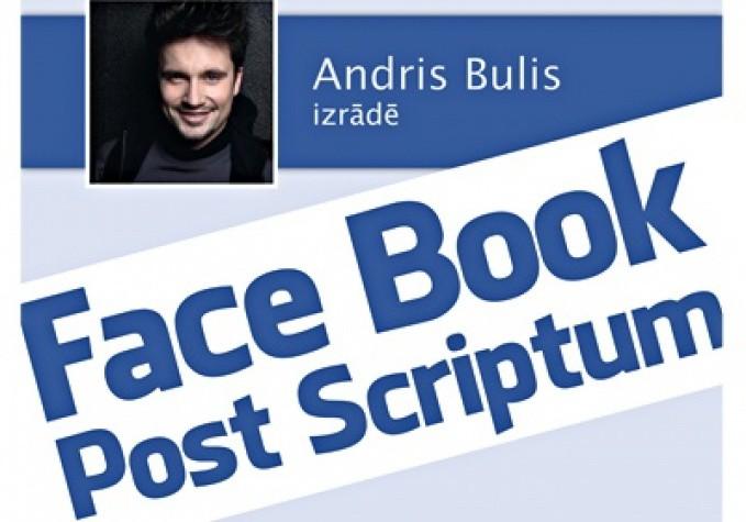 """Andra Buļa monoizrāde """"Facebook. Post Scriptum""""  Kultūras pils """"Ziemeļblāzma"""" Lielajā zālē"""