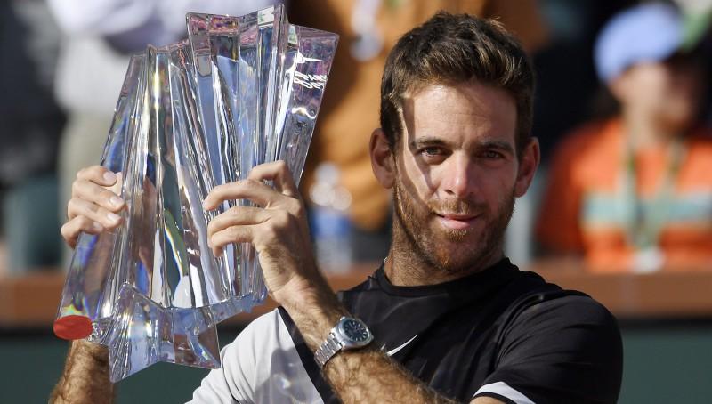 "Federers neizmanto trīs mačbumbas, Del Potro iegūst pirmo ""Masters"" trofeju"