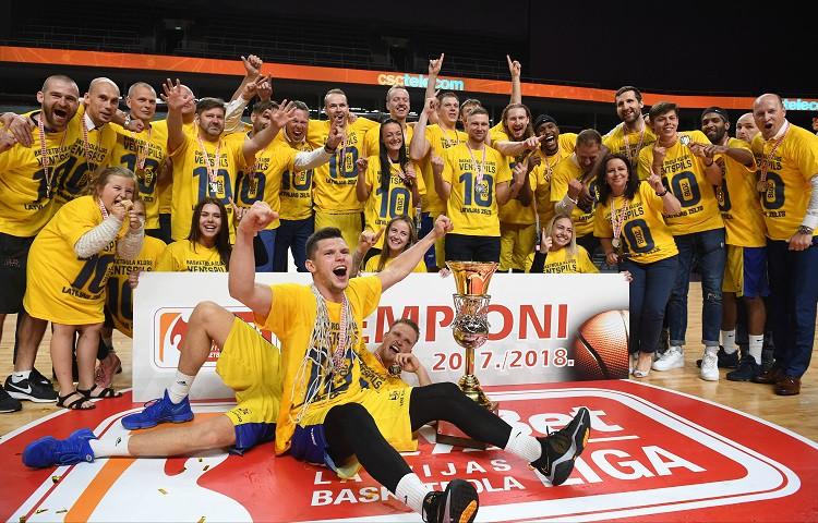 Desmitkārtēji Latvijas čempioni! Ventspils vēlreiz Rīgā pieveic VEF