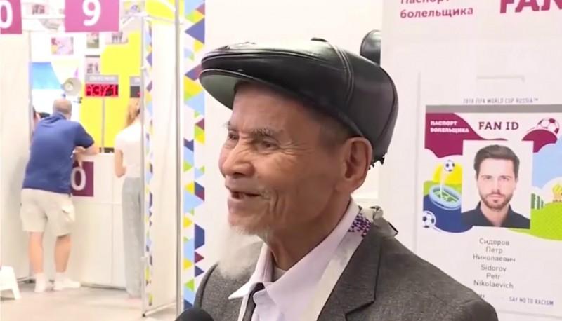Pasaules kausa vecākais fans ieradies no Vjetnamas