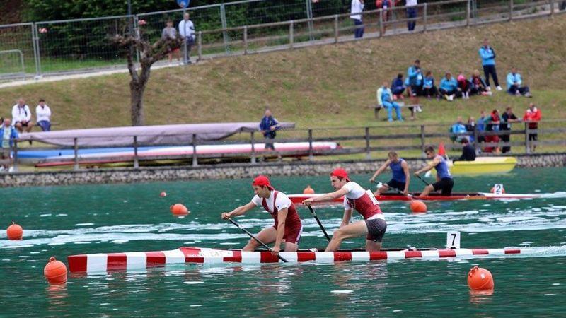 Latvijas kanoe airētājiem divas sestās vietas Eiropas junioru un U23 čempionātā