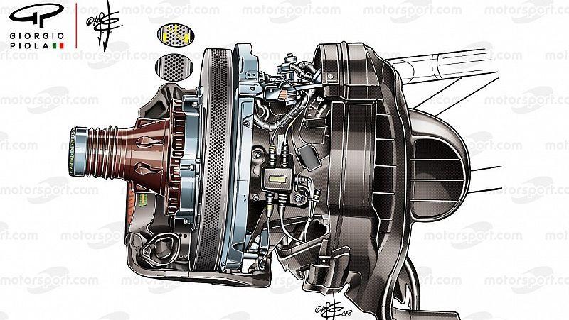 """""""Ferrari"""" komanda pirmā izmēģina F1 bremžu diskus ar 1400 caurumiem"""