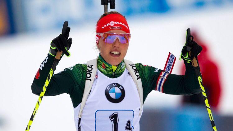 Vācijas biatlona zvaigzne Dālmeiere jau nākamnedēļ varētu atgriezties Pasaules kausā