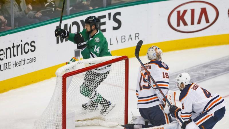 """Benam piektie vārti sešās spēlēs, """"Stars"""" sakauj """"Oilers"""""""