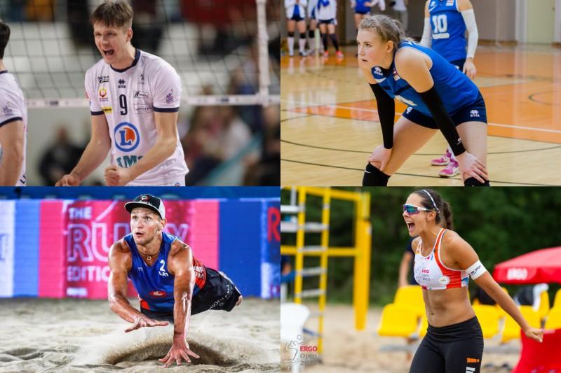 Gada labākie volejbolisti – Egleskalns un Levinska, pludmales volejbolisti – Točs un Kravčenoka