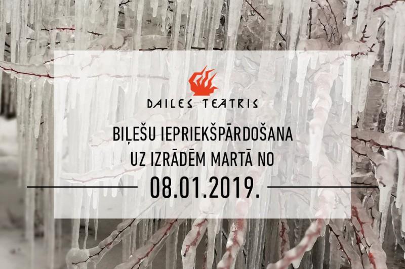 Sākusies iepriekšpārdošana uz Dailes teātra izrādēm martā