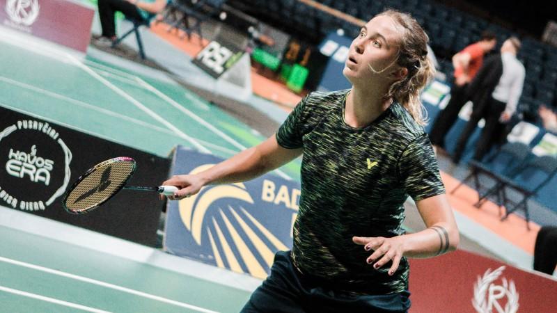 Badmintonistes Lencēviča un Romanova sasniedz pusfinālu turnīrā Lietuvā