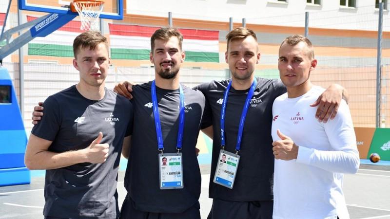 Eiropas spēles sākušās ar Latvijas 3x3 basketbolistu uzvaru pret Turciju