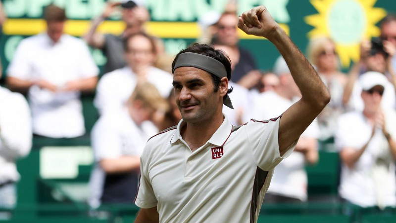 """Federers ar 99. uzvaru Vimbldonā sasniedz """"Grand Slam"""" turnīru rekordu"""