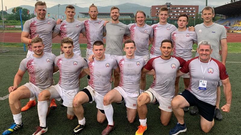 """Latvijas regbija-7 izlase saglabā vietu Eiropas čempionāta """"Trophy"""" divīzijā"""