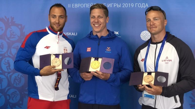 Rumjancevs saņēmis 2015. gada Eiropas spēļu medaļu