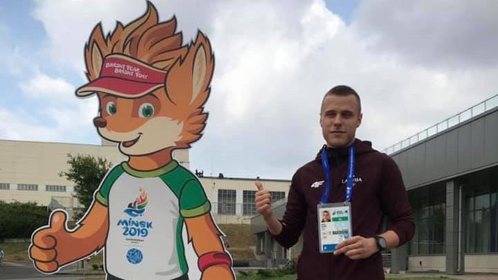 Karatē cīkstonis Kalniņš Eiropas spēļu noslēgumā sagādā Latvijai vēl vienu zeltu