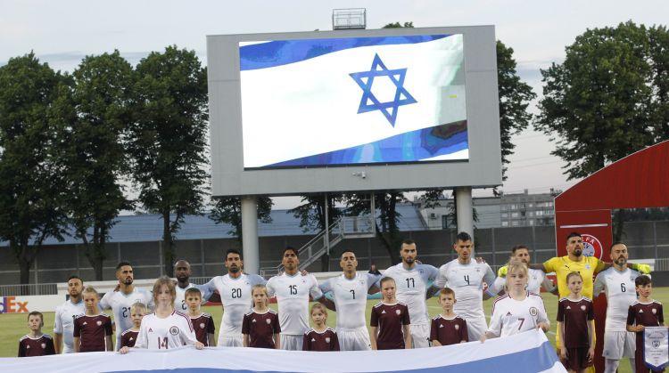 UEFA nav konstatējusi rasisma izpausmes Latvijas un Izraēlas izlašu spēlē, lieta slēgta