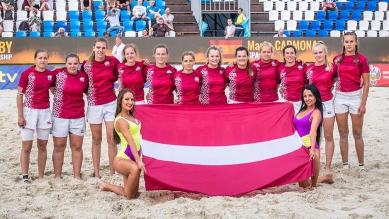 Latvijai ceturtā un septītā vieta Eiropas čempionatā pludmales regbijā