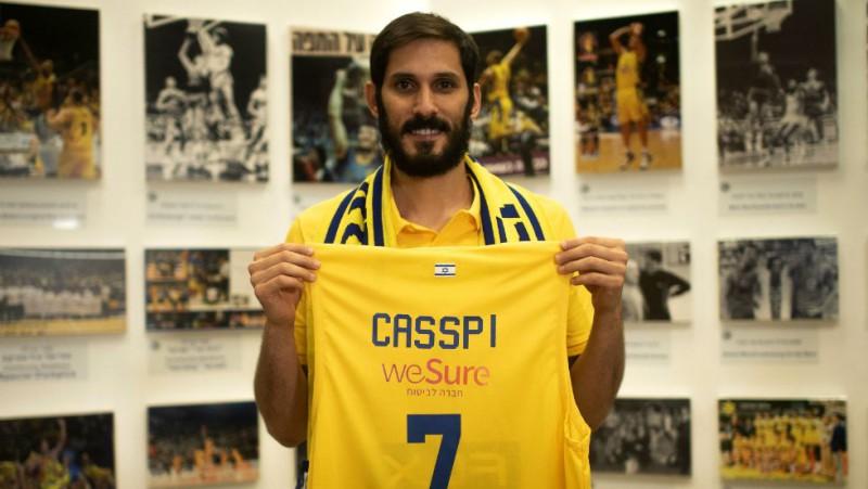 """Pirmais Izraēlas spēlētājs NBA Kaspi atgriežas mājās un pievienojas """"Maccabi"""""""