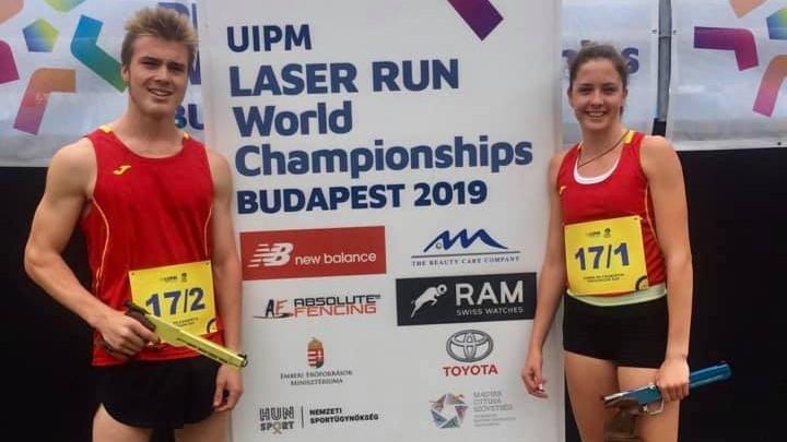 """Malašenoka un Švecovs izcīna piekto vietu PČ """"Laser Run"""" jauktajā stafetē"""