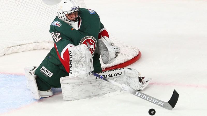 Bijušais rīdzinieks Biļalovs atzīts par KHL mēneša labāko vārtsargu