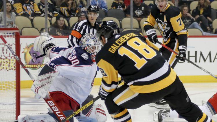 Merzļikins pirmajā NHL pārbaudes spēlē ielaiž tikai vienreiz mazākumā